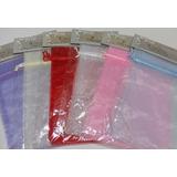 Paquete De 3 Bolsas De Organza Unicolor De 15cm X 22.5cm