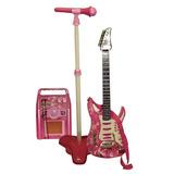 Guitarra Con Amplificador Y Microfono Juguetes Musical