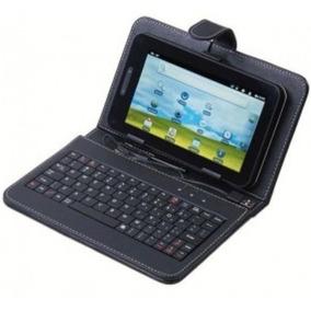 Capa Case Tablet 7 Polegadas Em Couro Com Teclado E Caneta