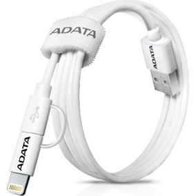 Cable Usb 2 In 1 Lightning/microusb Carga & Sync Apple Adata