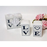 10 Lembrancinhas De Casamento Love Saleiro E Pimenteiro