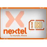 Chip Tarjeta Sim Nextel Prepago Activo Carga Virtual Naranja