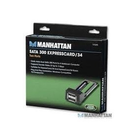 Tarjeta Express Card 2 Port Sata 300 Manhattan-9.1.30