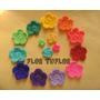 Pack Florcitas Tejidas Crochet En Colores Y Tamaño A Elegir