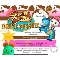 Kit Imprimible Sheriff Callie + Candy Bar