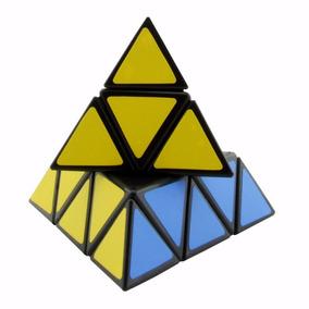 Strass Pyraminx Speedcubing Preto Enigma Cubo Mágico