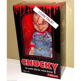 Chucky Brinquedo Assassino 38 Cm Fala Frases Mezco Movie