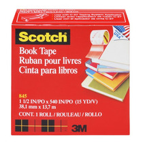 3m Scotch Cinta Adhesiva Para Libros 38 Mm X 13 M