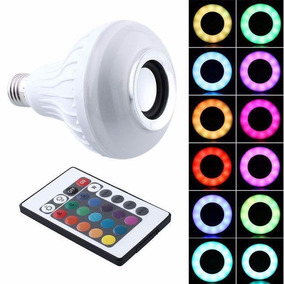 Foco Led De Colores Con Bocina Bluetooth