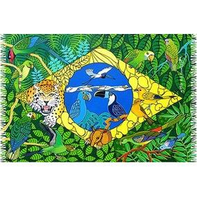Saida De Banho/ Canga Praia Bandeira Brasil Fauna Tucano