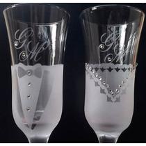 Taças Vidro Champanhe Personalizadas Casamento