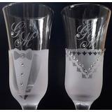 Brinde Noivos Taças Vidro Champanhe Personalizadas