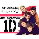 Kit Imprimible One Direction Personalizá Tarjetas, Cumples