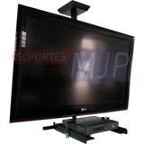 Suporte Tv Teto 10-55 Pol Universal C/acessorio Para Dvd Etc