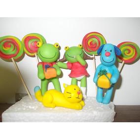 El Sapo Pepe Y Sus Amigos En Porcelana Fria Para Tu Torta