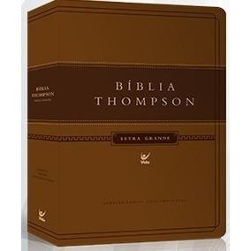 Bíblia De Estudo Thompson Letra Grande 17x25 Luxo Marrom