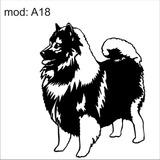 Adesivo A18 Cachorro Raça Chow Chow Da Lingua Roxa Peludo F