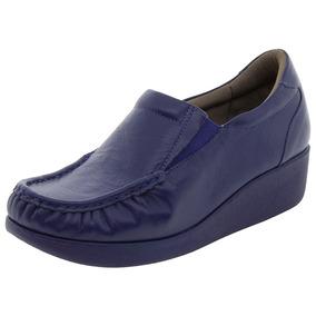Sapato Feminino Anabela Azul Usaflex - 5743pl