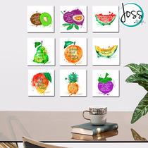Cuadros Decorativos Set De 9 Piezas Explosión De Frutas