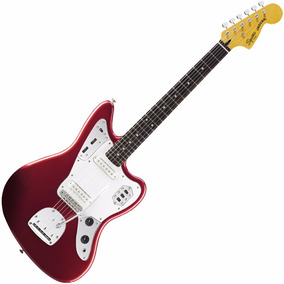 Squier Jaguar Vintage Modified Rwn Candy Apple Red - Oddity