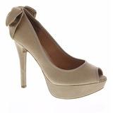 Sapato Feminino Peep Toe Vizzano Laço Liquidação