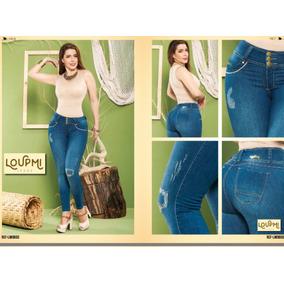 Jeans Colombiano Loupmi /levanta Cola/skinny/cintura Alta