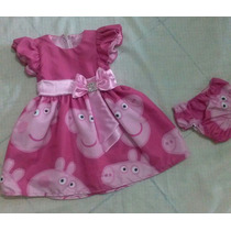 Vestido Fantazia Infantil Peppa Pig Festa