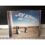 Joe Bonamassa, Cd Had To Cry Today, Som Livre-2012 Novo