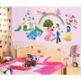 Adhesivo Decorativo Princesas Disney Stickers Pared