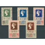 Sc C103 - C107 Año 1940 Centenario Del Primer Timbre Postal