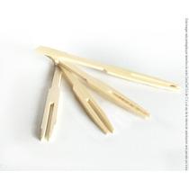 Palillos Tenedor De Bambu Botaneros Bolsa Con100 Piezas