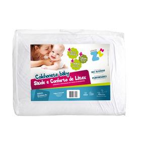 Colchonete Para Berco Desmontavel Latex Branco-fibrasca