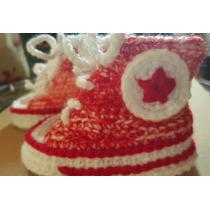 Escarpines / Championes En Crochet Bebé. Largo Pie: 11-12 Cm