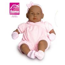 Boneca Bebê Real 5075 Negra - Roma Brinquedos