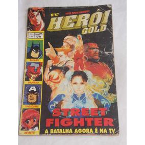Gibi Revista Heroi Gold Nº 57 Street Fighter A Batalha Na Tv