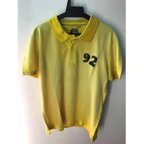 Camisa Polo Ed Hardy Amarelo Christian Audigier Masculina