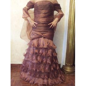 Vestido Fiesta Bronce Talla M