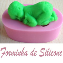 Molde Silicone Lindo Bebê Biscuit Pasta Americana Chocolate