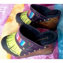 Zapatos Zuecos D Mujer Ricky Sarkany C Plataforma N35 Nuevos