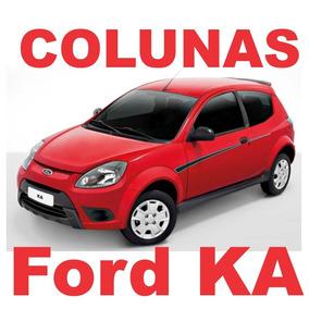 Colunas Preto Fosco Blackout Ford Ka