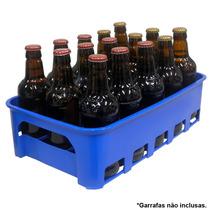 Caixa Engradado Garrafeira Cerveja 300ml P/ 15 Garrafas Azul