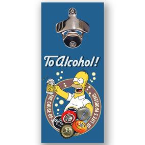 Promoção Abridor Garrafa Cerveja Parede Ímã Homer Simpson