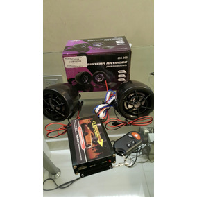 Moto Estereo Y Alarma Control Bocinas Fm Usb Radio Fm Mp3