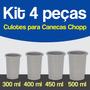 Kit 4 Peças / Culote Suporte Copo Caneca Acrílica Sublimação