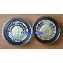Medalla Sol Y Luna Trimetalica Casa Moneda 2016 Lanzamiento