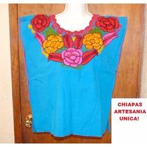 Paquete De 12 Blusas Artesanales Bordadas Zinacantan Chiapas