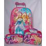 Bolsa Mala Com Rodinhas 3d- Barbie-infantil