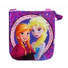 Bolsito Morral Frozen Disney Anna Elsa Con Cierre 24x21cm