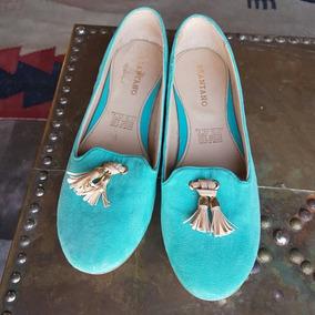 Flats Nuevos Marca Brantano Color Tiffany Talla 24