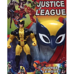 Boneco + Máscara, Wolverine, Lanterna Verde Ou Flash C/ Som